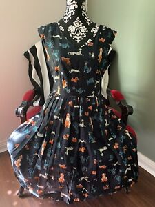 Revival Dangerfield Dog Print 1950s Dress Size 12