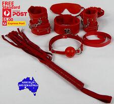 Collar Wrist Cuffs Ankle Cuffs Flogger Shibari Kinbaku Rope Blindfold B-Gag set