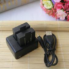 2Pcs 900mAh Li-ion Battery+ dual Charger for SJCAM SJ4000 SJ5000 SJ8000 SJ9000