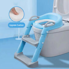 Toddler Toilet Chair Kids Potty Training Seat w/ Step Stool Ladder For Child