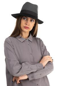 RRP €160 RAG & BONE Wool Felt Fedora Hat Size S Colour Block HANDCRAFTED in USA