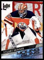 2020-21 UD Series 2 Base Young Guns #496 Stuart Skinner RC - Edmonton Oilers