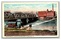 Vintage 1910's Postcard Lehigh Bridge Looking Towards Town Allentown PA