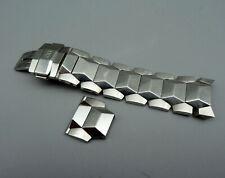 RRMN Orig GLASHÜTTE Vintage Stahl Band Armband Faltschließe 20mm Herren Ersatz