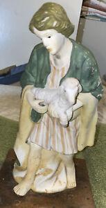 Vintage Nativity Scene Replacement Piece Ceramic Shepherd