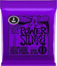 3 Packs / 3 Sets of Ernie Ball 2220 11 - 48 Power Slinky Electric Guitar Strings
