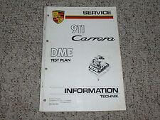 1987 Porsche 911 Carrera DME Test Plan Shop Repair Service Manual 1988 1989