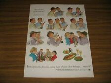 1953 Print Ad Beer Belongs US Brewers Fly Fishing Painting by Douglass Crockwell