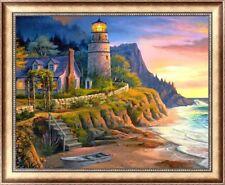 Lighthouse & Coast Diamond Painting Kit 40x30 cm like cross stitch PARTIAL PASTE