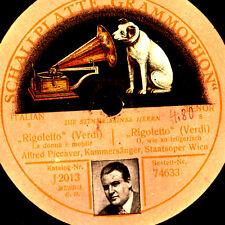 """Alfred piccaver-tenore - """"Rigoletto"""" la donna è mobile (Verdi) 1-lati s6919"""
