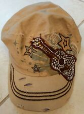 KB ETHOS cap hat adjustable Rhinestone Embroidered Guitar Nashville Music