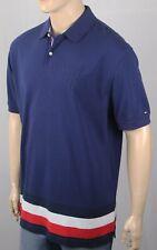 Tommy Hilfiger Navy Blue Custom Fit Polo Mesh Shirt NWT