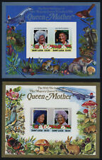 St Lucia 787-8 imperf MNH Queen Mother 85th Birthday, Aircraft, Concorde, Animal