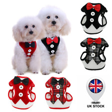 Puppy Cat Harness & Lead Tuxedo Style Breathable Pet Harness Vest For Small Dogs