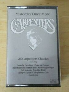 Carpenters double cassette Yesterday once more, TCSING1 EMI