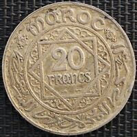 MAROC 20 FRANCS 1347 H