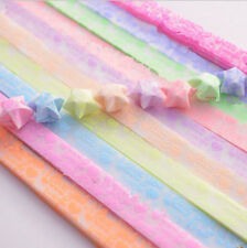 Origami Luminous Lucky Wish Star Paper Strips Glows in the dark Craft Gift _O