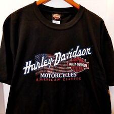 Harley Davidson Motorcycles Shirt Large Black Winston-Salem Smokin' Double sided