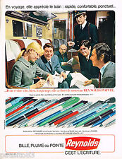 PUBLICITE ADVERTISING 055  1967  REYNOLDS   stylo bille  LE train