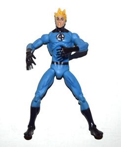 "Marvel Universe Fantastic 4 F4 Human Torch Light Blue 3.75"" Loose Action Figure"