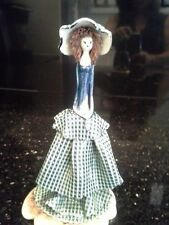 Unique Art Pottery Female Figure Statue in Long Dress, Artist Signed