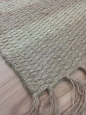 Modern Handloomed Cotton 100 Jute Rug Durrie Washable Beige 90x150cm 40 off