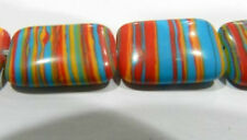 13x18mm Multicolor Red Turkey Turquoise Gemstone Rectangle Loose Beads