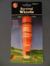 Survival Whistle 5 in 1 Functions Camping Hiking Boating Emergency Disaster