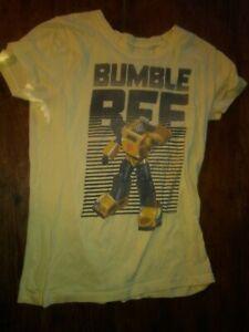 Guc juniors M Mighty Fine Hot Topic Transformers Bumble Bee tee shirt yellow