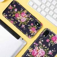 Chic Vintage Flower Phone Case Cover For iPhone 6S 7 8 Plus XS XR XS Max Women