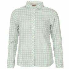 Polyester Checked Long Sleeve Casual Tops for Women
