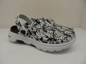 Skechers Women's Go Walk 5 - Fur Real Sandal 111001 Black Size 5M