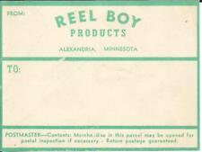 Mail Label-REEL BOY,Alexandria,MN.Minnesota.original.Aqua.original US.melaneybuy
