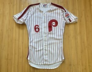 Sil Campusano GAME WORN JERSEY RECYCLED 1990 PHILADELPHIA PHILLIES 42 RAWLINGS