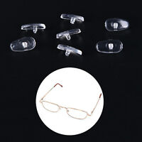 50 Pairs Screw-On Oval Silicone Nose Pads for Glasses Eyeglass New.kn