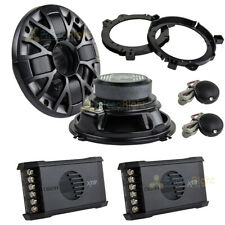 "Set of Orion XTR52 5.25"" 2-Way Component Speakers 100 Watt with 6.5"" Adapters"