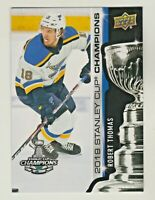 2018-19 Upper Deck 2019 STANLEY CUP CHAMPIONS BLUES ROBERT THOMAS RC QTY AVAIL