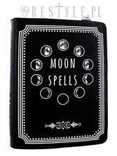 Restyle Moon Spells Black Vegan Leather Punk Emo Goth Book Bag Handbag Purse