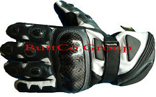 Motorbike Motorcycle Biker Genuine Cowhide Leather CE Armoured Racing Gloves L Black