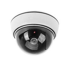 Argent Factice Dôme Caméra De Sécurité CCTV Fausse IR DEL Rouge Clignotante Lumière JQ ventes