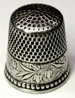 """Antique Ketcham & McDougall Sterling Silver Thimble """"Lily-of-the-Valley""""  C1900s"""