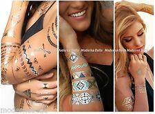 Tatuaggio temporaneo Metallico Oro,Argento Metallizzato impermeabile Glitter