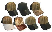 Straw Bamboo Look Faux Fur Mesh Plain Trucker Baseball Snapback Hat Cap