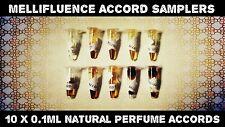 Mellifluence Accord samplers-Natural Aceite De Perfume/Attar - 10 X 0.1ml viales