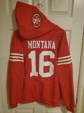 San Francisco 49ers Joe Montana Red Jersey Style Hoodie Hoody Sweatshirt