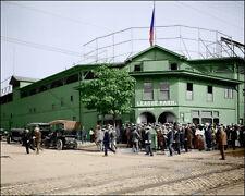 League Park #1 Photo 8X10 - 1905 Indians COLORIZED