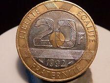 PL7(8) - 20 FRANCS - MONT SAINT MICHEL - 1992 - 5C V FERME ! QUALITE SUP+ !
