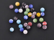 Bulk Wholesale 50pcs 6mm Mixed Round Lampwork Glass Loose Spacer Beads Jewelry
