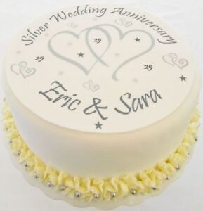 Happy Anniversary Edible Cake Topper With Your Own Personalised Image Photo