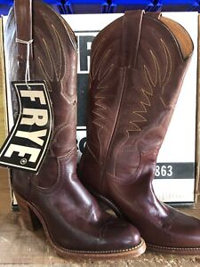 Frye Vintage Western Women's Boots Black Label New Old Stock Size 5.5 B